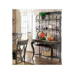Bowery Hill Marble Top Bakers Rack