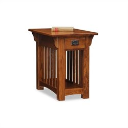 Bowery Hill Chairside Table with Storage Drawer and Shelf