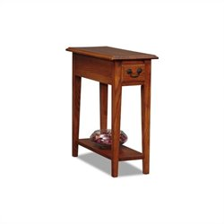 Bowery Hill Chairside End Table in Medium Oak Finish