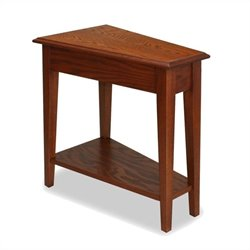 Bowery Hill Favorite Finds Recliner Wedge Table in Medium Oak