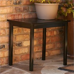 Bowery Hill End Table in Painted Black