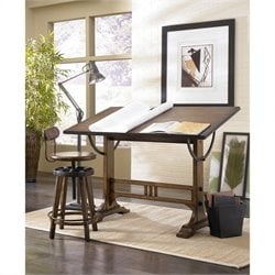 Bowery Hill Architect Drafting Desk in Oak