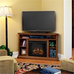 Bowery Hill Electric Corner Fireplace in Oak