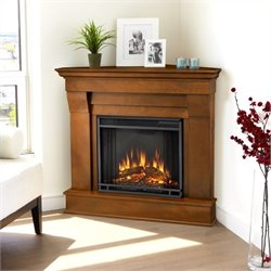 Bowery Hill Electric Corner Fireplace in Espresso Finish