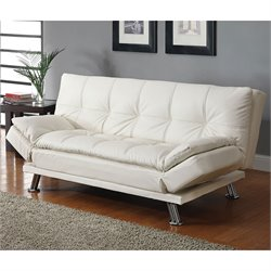 Bowery Hill Contemporary Styled Sofa in White