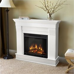 Bowery Hill Electric Fireplace in White Finish