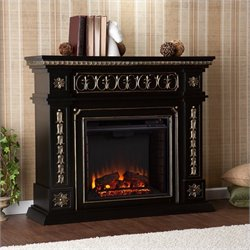 Bowery Hill Electric Fireplace in Black Finish