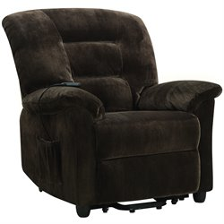 Bowery Hill Power Lift Recliner in Chocolate