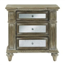 Bowery Hill Three Drawer Accent Nightstand in Rustic