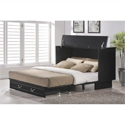 Bowery Hill Queen Cabinet Bed in Cottage Black