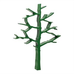 Bowery Hill Tree Bookcase in Green