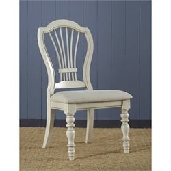 Bowery Hill Wheat Back  Dining Chair (Set of 2)