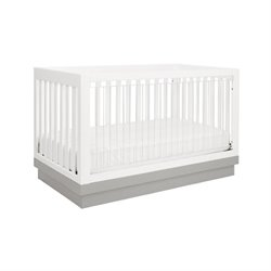 Bowery Hill Acrylic 3-in-1 Convertible Crib with Toddler Rail