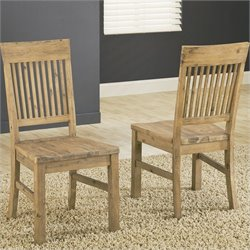Bowery Hill Dining Chair in Light Brown (Set of 2)