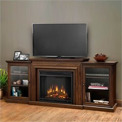 Bowery Hill Entertainment Electric Fireplace in Chestnut Oak Finish