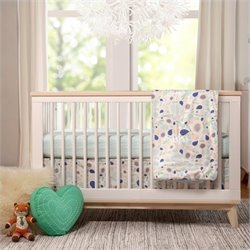 Bowery Hill 3 in 1 Convertible Crib and Toddler Bed in White