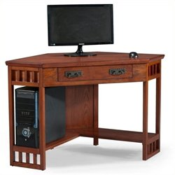 Bowery Hill Corner Computer Desk in Mission Oak