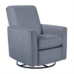 Bowery Hill Fabirc Swivel Glider Recliner in Carlton Dove