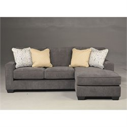 Bowery Hill Fabric 2 Piece Sectional in Marble