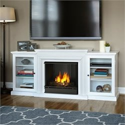 Bowery Hill Gel Fuel Fireplace in White