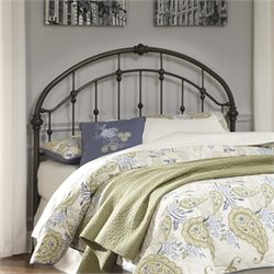 Bowery Hill Metal Queen Headboard in Bronze