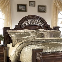 Bowery Hill Wood Queen Poster Panel Headboard in Brown