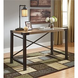 Bowery Hill Home Office Small Desk in Light Brown