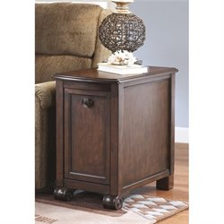 Bowery Hill Chair Side End Table in Dark Brown