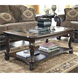 Bowery Hill Rectangular Coffee Table in Dark Brown