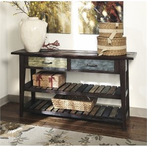 Bowery Hill Sofa Table in Rustic Brown