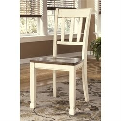 Bowery Hill Dining Chair in Brown and Cottage White