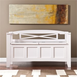 Bowery Hill Storage Bench in White