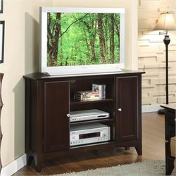 Bowery Hill 44 Inch Corner Stand in Ebony Brown