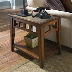 Bowery Hill Side Table in Eden Burnished Cherry