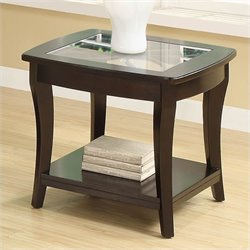 Bowery Hill End Table in Dark Mahogany