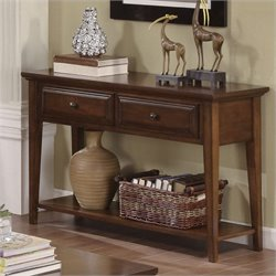 Bowery Hill Sofa Table in Burnished Cherry