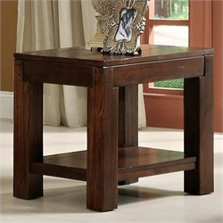 Bowery Hill End Table in Warm Tobacco