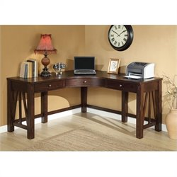 Bowery Hill Corner Desk in Warm Tobacco