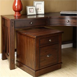 Bowery Hill Mobile File Cabinet in Warm Tobacco