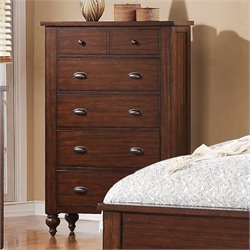 Bowery Hill 6-Drawer Chest in Warm Tobacco