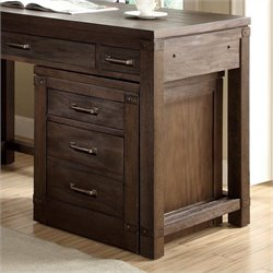 Bowery Hill Mobile File Cabinet in Warm Cocoa