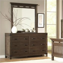 Bowery Hill 6 Drawer Dresser in Warm Cocoa