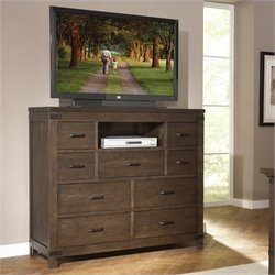 Bowery Hill 9 Drawer Media Chest in Warm Cocoa