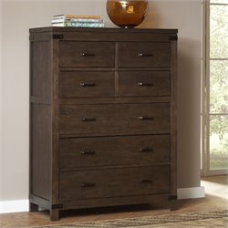 Bowery Hill 6 Drawer Chest in Warm Cocoa