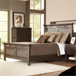 Bowery Hill King Panel Platform Bed in Warm Cocoa