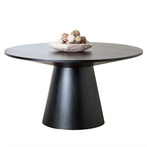 Bowery Hill Round Wood Dining Table in Espresso
