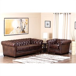 Bowery Hill Leather Sofa Set