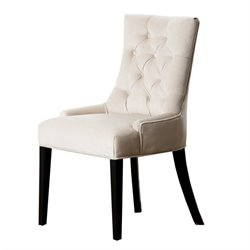 Bowery Hill Fabric Dining Chair in Cream