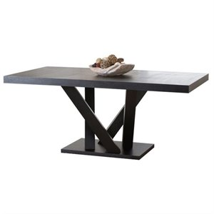 Bowery Hill Wood Dining Table in Espresso