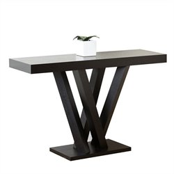 Bowery Hill Wood Sofa Table in Espresso